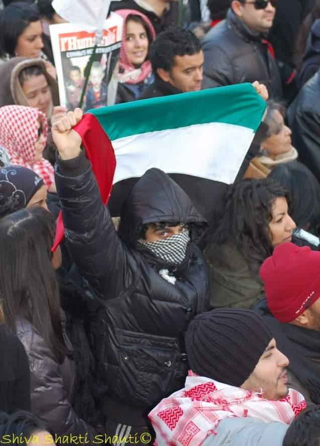 Manifestation pour la Palestine.Paris.10.01.09