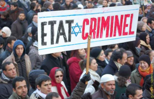 Manifestation pour a Palestine.Paris.10.01.09