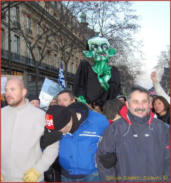 29 Janvier 2009 Manifestatiogreves generales Paris Place de l'opera