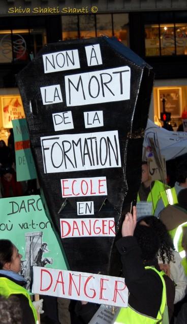 29 Janvier 2009 Manifestation greves generales PARIS Place de l'Opera