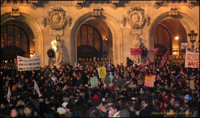 29 Janvier 2009 Manifestation greve generale Place de l'Opera PARIS