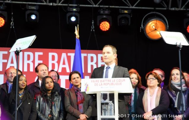 19.04.2017 Presidentielles Meeting Republique Benoit Hamon
